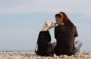 Foto Single mit Hund