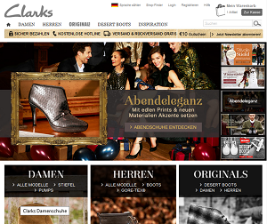 screen-shot Clarks.de