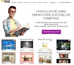 screen Wix.com