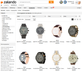 screen Zalando Uhren