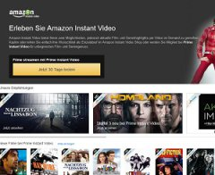 Amazon Instant Video screen