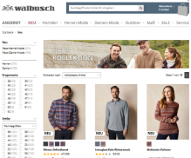 mode-shop Walbusch screen